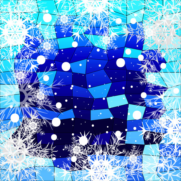 43xqwwh5jr4ao30 Christmas snowflake with shiny polygon background vector 03