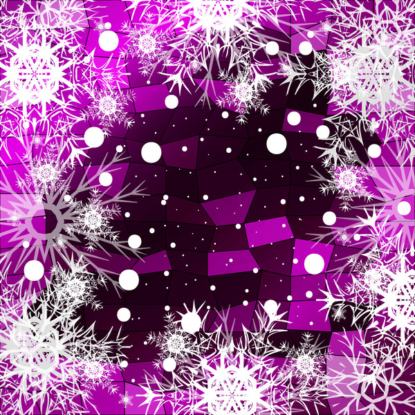 46egg0tx4hyz030 Christmas snowflake with shiny polygon background vector 02