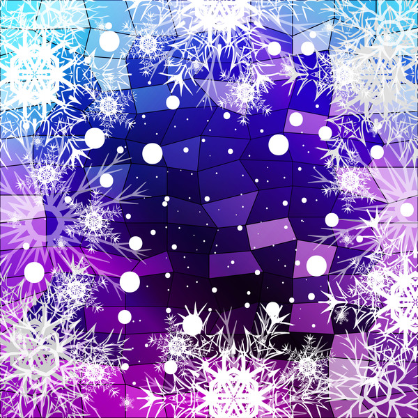 46grrcuat5zgb30 Christmas snowflake with shiny polygon background vector 12