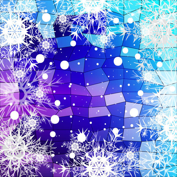 48eg0zcxva1rn30 Christmas snowflake with shiny polygon background vector 11