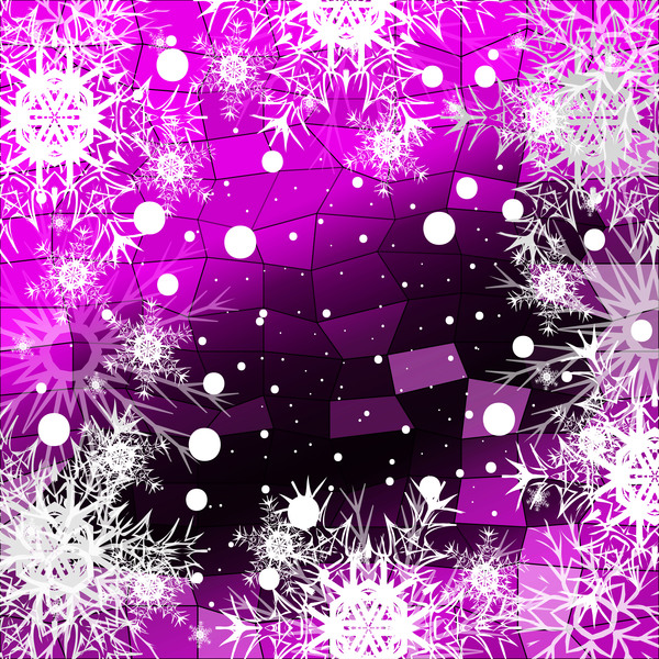 49quet0rlv4ck30 Christmas snowflake with shiny polygon background vector 01