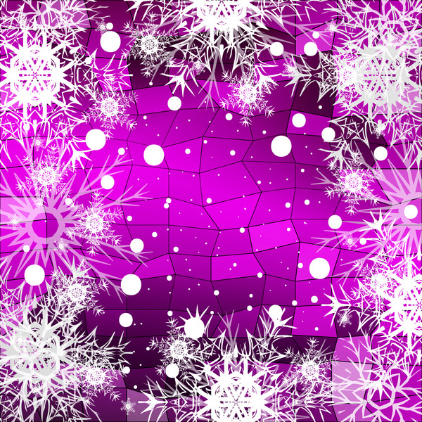 51keyujvhtnb330 Christmas snowflake with shiny polygon background vector 10