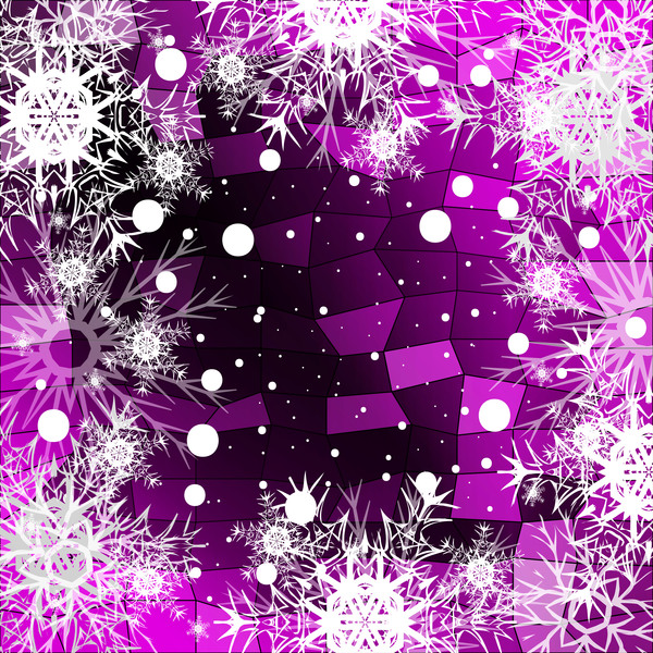 5411gya2mltse30 Christmas snowflake with shiny polygon background vector 09
