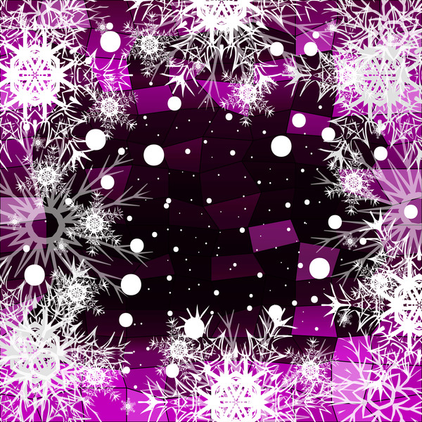 56aa4big0tewa30 Christmas snowflake with shiny polygon background vector 08