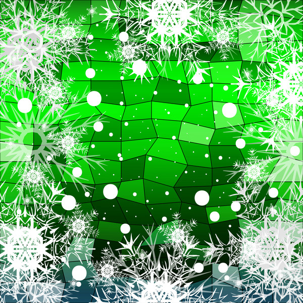043wngr001gcs31 Christmas snowflake with shiny polygon background vector 05