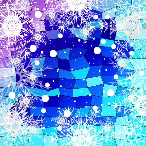05xwn55ce23y131 Christmas snowflake with shiny polygon background vector 14