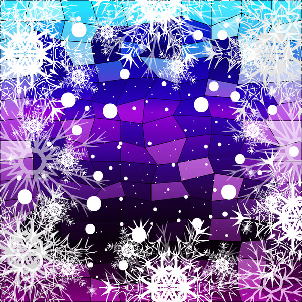 06ae31dmphfwa31 Christmas snowflake with shiny polygon background vector 04