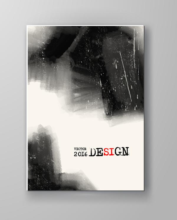 watercolor ink flyer brochure