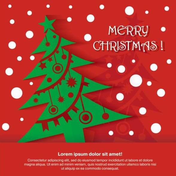 19sllztn4rodh34 Merry christmas red greeting card vector
