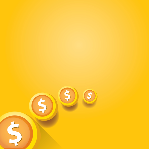 59qvz2rfukeo234 Coins with golden business template vector 03