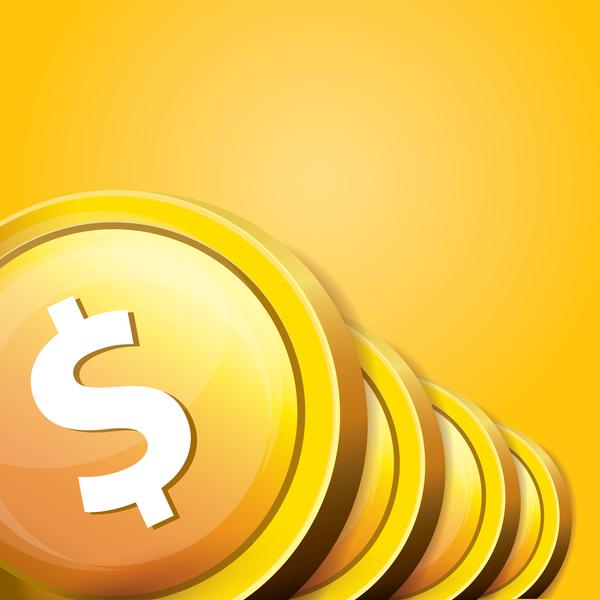 03e3mfzqyu23e35 Coins with golden business template vector 01