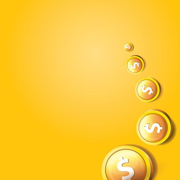 04nu2jlaicyv535 Coins with golden business template vector 10