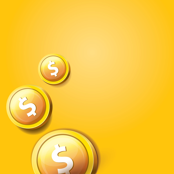 10me31aumubkf35 Coins with golden business template vector 09