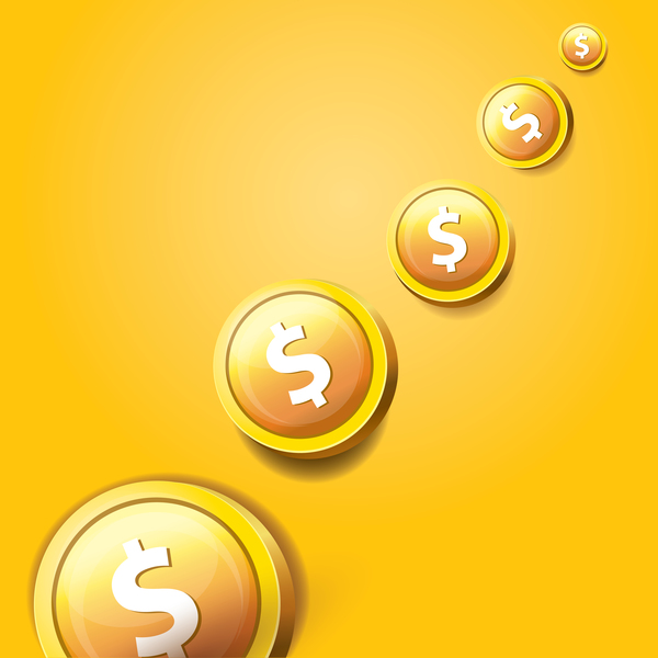 12dqammhqop5235 Coins with golden business template vector 08