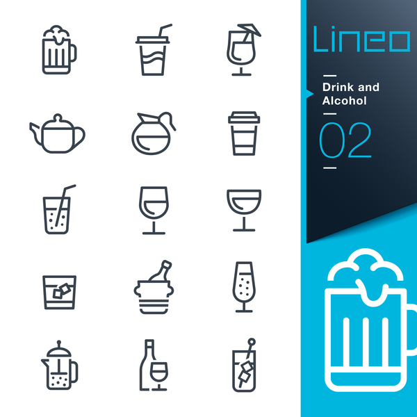lines icons drink black alcohol