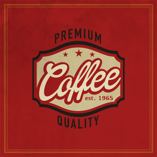 48u5hsbxy5q1035 Retro coffee labels with red background vector 08