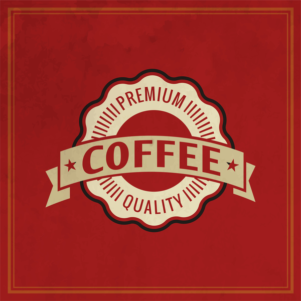 54yymi2erto5g35 Retro coffee labels with red background vector 05