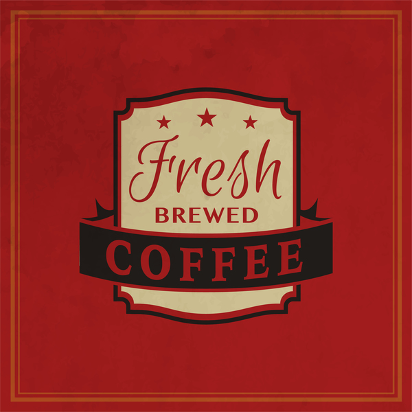 5512e53pz33vv35 Retro coffee labels with red background vector 04