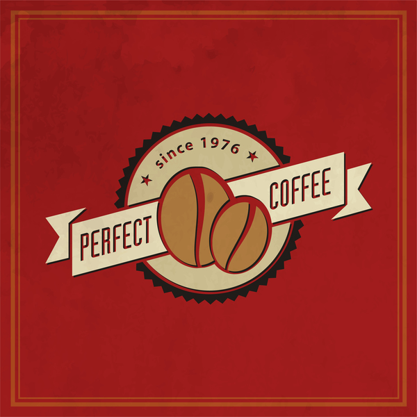 59zpiwydl3ntl35 Retro coffee labels with red background vector 02
