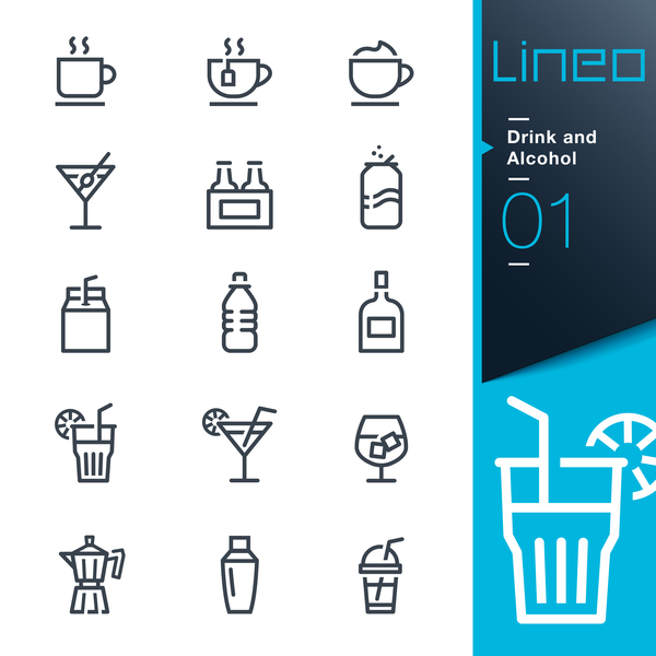 lines icons drink alcohol