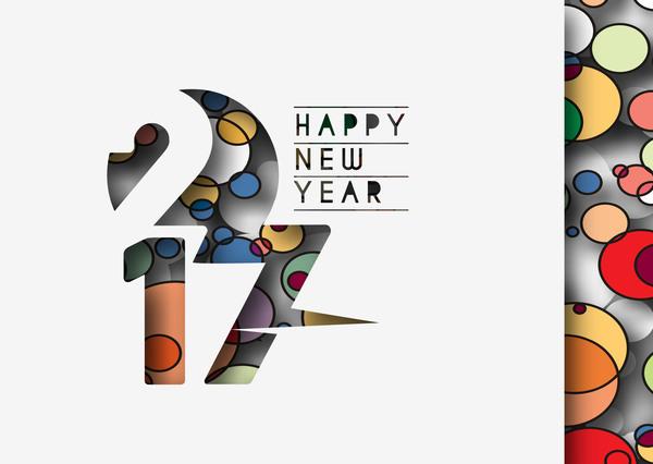 495j4e3al4tag36 2017 new year creative background set vector 16