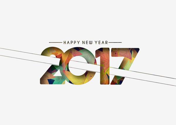 55ubke4btlr3136 2017 new year creative background set vector 12