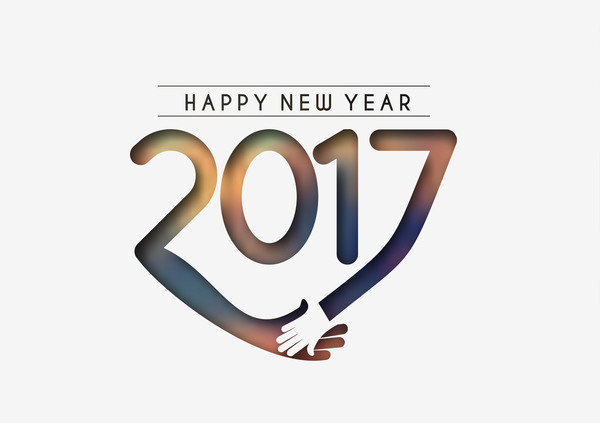 01yaowai34iu137 2017 new year creative background set vector 09