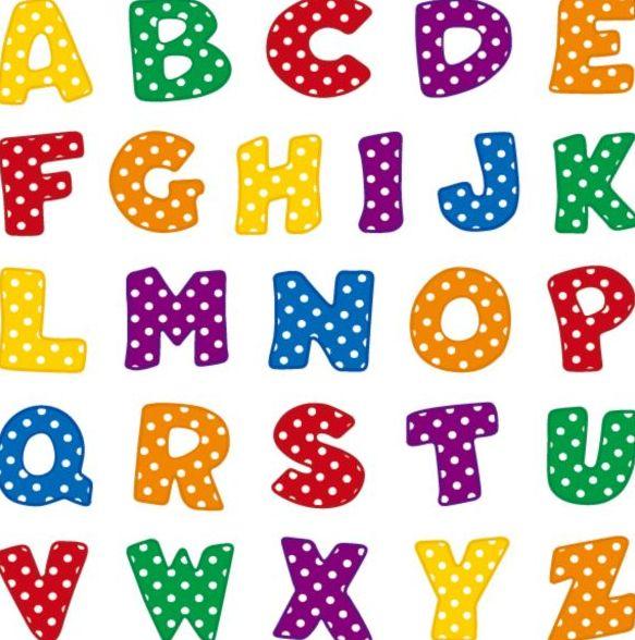 cute comic alphabet