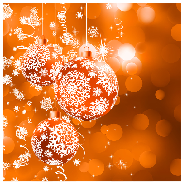 27jvgg52whwyt37 Christmas ball with snow beautiful background vector