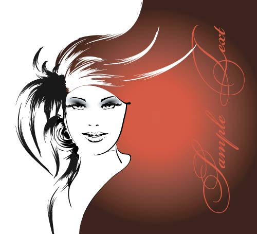 37b3mgyvmwzgy37 Fashion girl hand drawing vectors 09