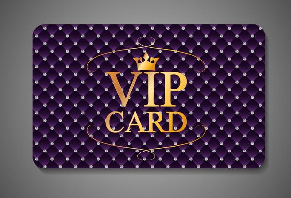 573p5ve1fwkri37 Purple diamond VIP card vector