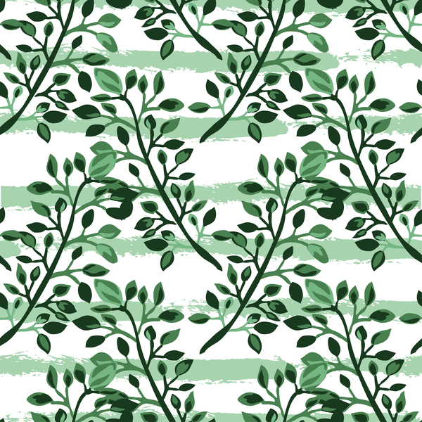 59cyscx4vzaml37 Tree branches with leaves seamless pattern vector 08