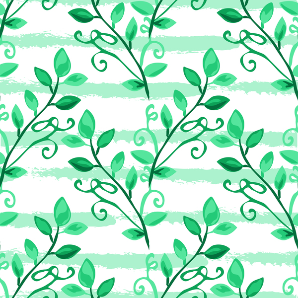 03cmo1ovo45mi38 Tree branches with leaves seamless pattern vector 07
