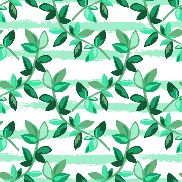 06vie5w3h5wko38 Tree branches with leaves seamless pattern vector 06