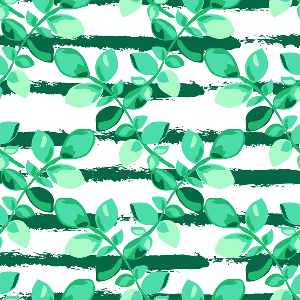 08fmxaaalnbtl38 Tree branches with leaves seamless pattern vector 05