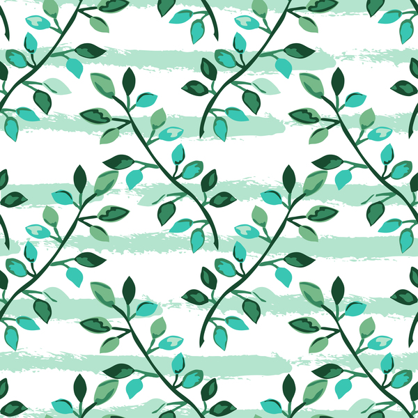 094nljk4zqh3438 Tree branches with leaves seamless pattern vector 04