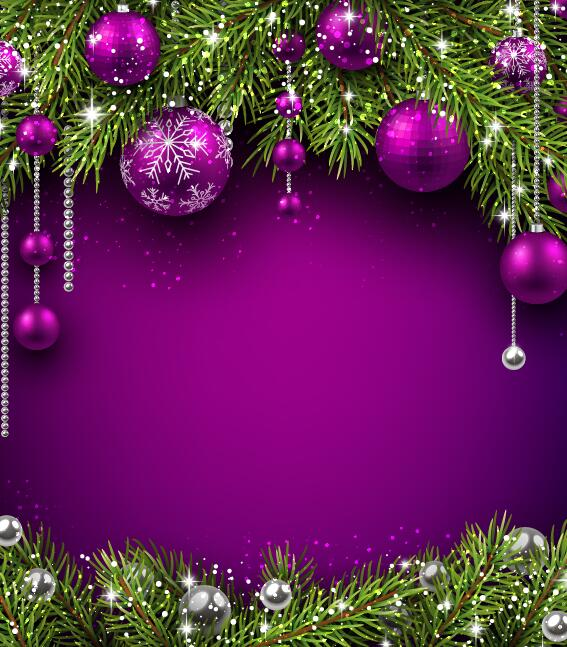 11s2zfmyfol2f38 Purple christmas ball with purple background vector