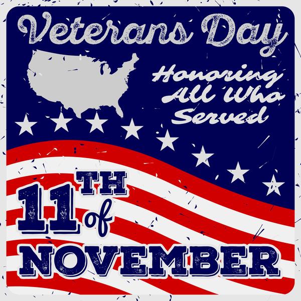 15b1nhgjhbaf438 Veterans day grunge template vector 05