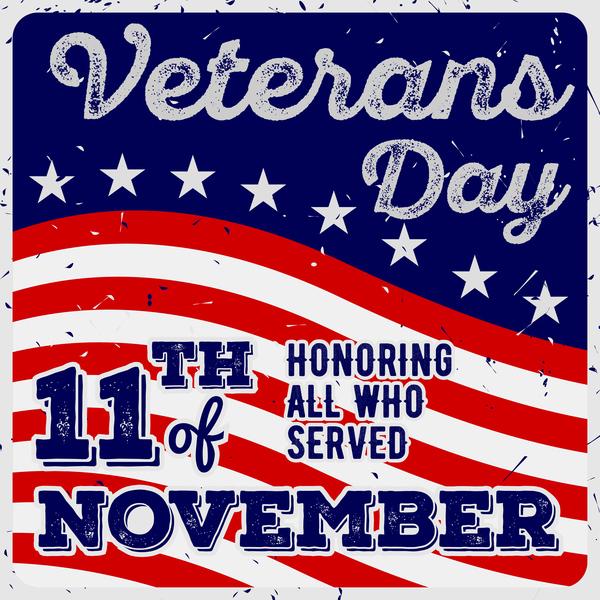 16gzcrdsbvyg238 Veterans day grunge template vector 04