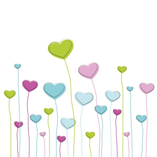 33rxp2bcln05n38 Heart grass valentine illustration vector 01