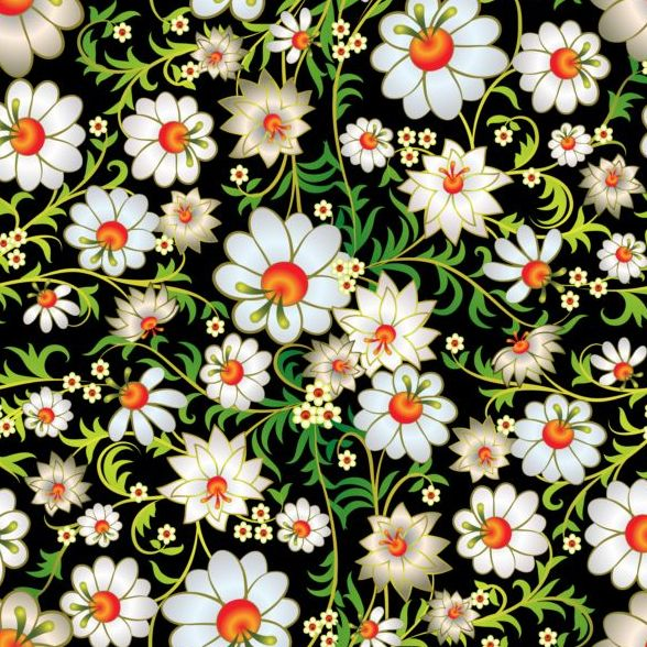 03znezfp2jjrs40 Beautiful flower decor seamless pattern vectors 04