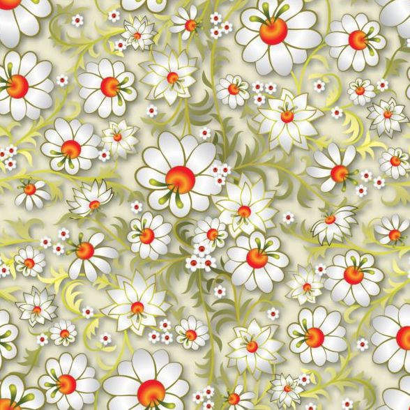 12trs53bhnozm40 Beautiful flower decor seamless pattern vectors 03