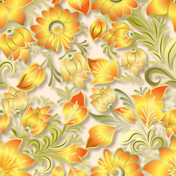 09m1umcu3dglt41 Vintage flower ornament pattern vectors set 08