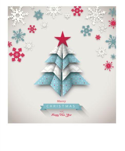 tree snowflake paper christmas