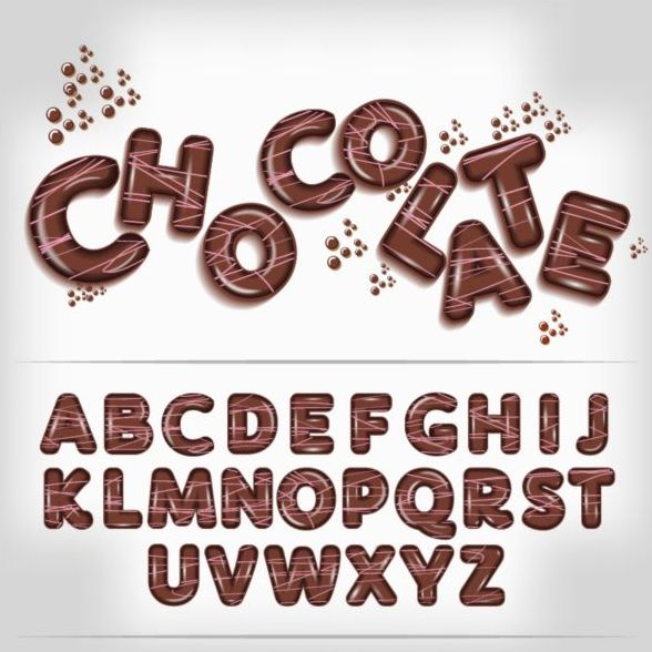 letters fonts chocolate