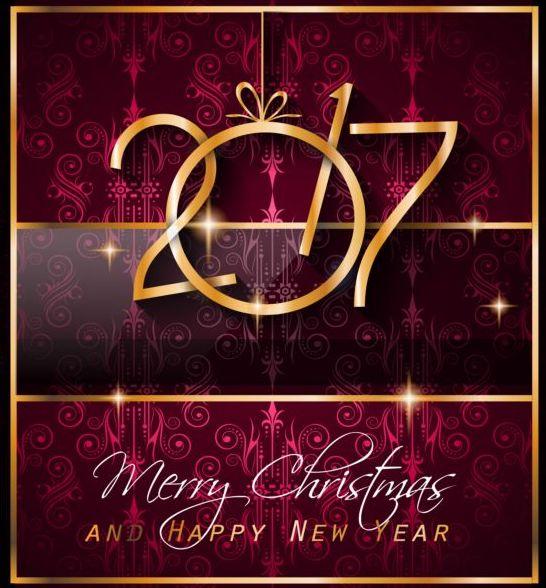 year xmas ornate new 2017