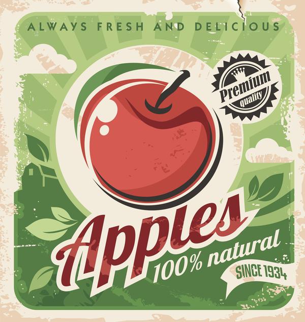 vintage poster apple