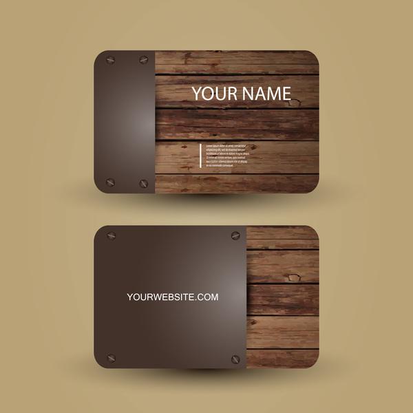 wooden metal card business