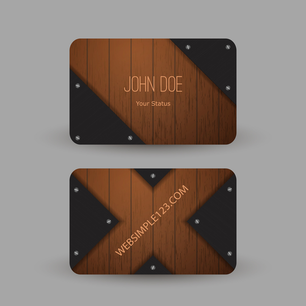 wooden metal card business
