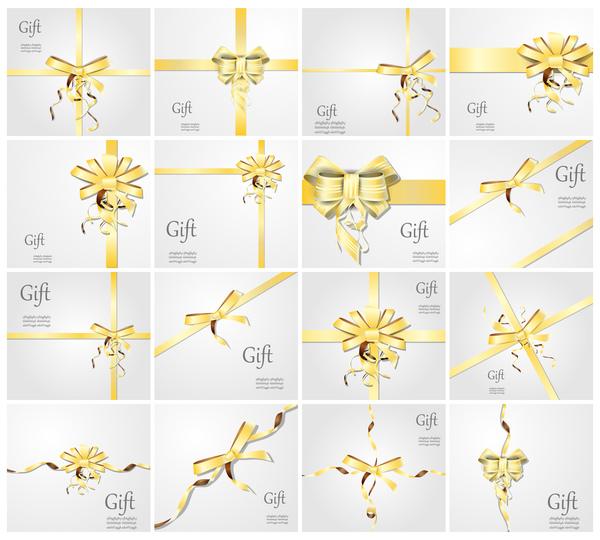 ribbon gold gift card bow